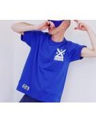 T-shirt KUHURU 100% coton. Coupe classique, col rond, manches courtes.